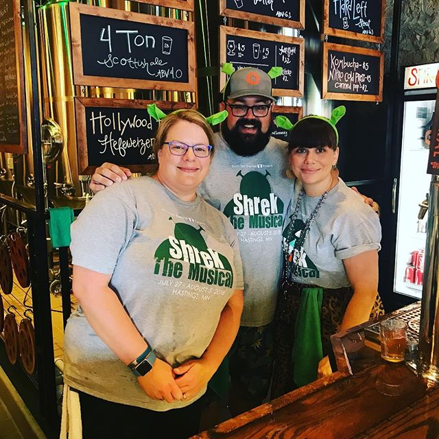 We had so much fun yesterday taking over the @spiralbrewery taproom yesterday! It was so amazing to see the support of the community for the next season, and our current season with Shrek! We would love to give a shoutout to the folks over at Spiral for their support and time yesterday! Cheers! And thank you to everyone involved! #BDTShrek #hastingsnow