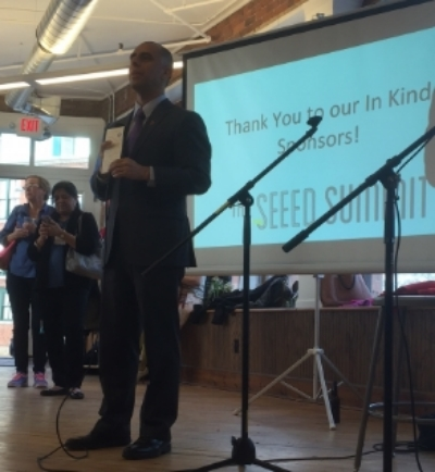 Mayor Jorge Elorza welcomes all to the 2016 SEEED Summit
