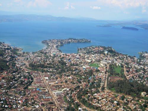 Bukavu, on the shores of Lake Kivu