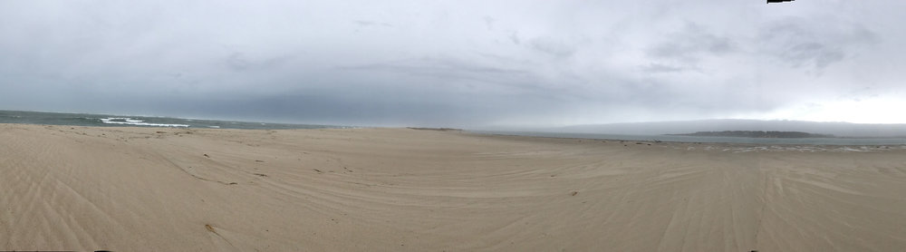 Part of a 360 panorama. Walking in open ocean. No person in sight. Chatham, MA.