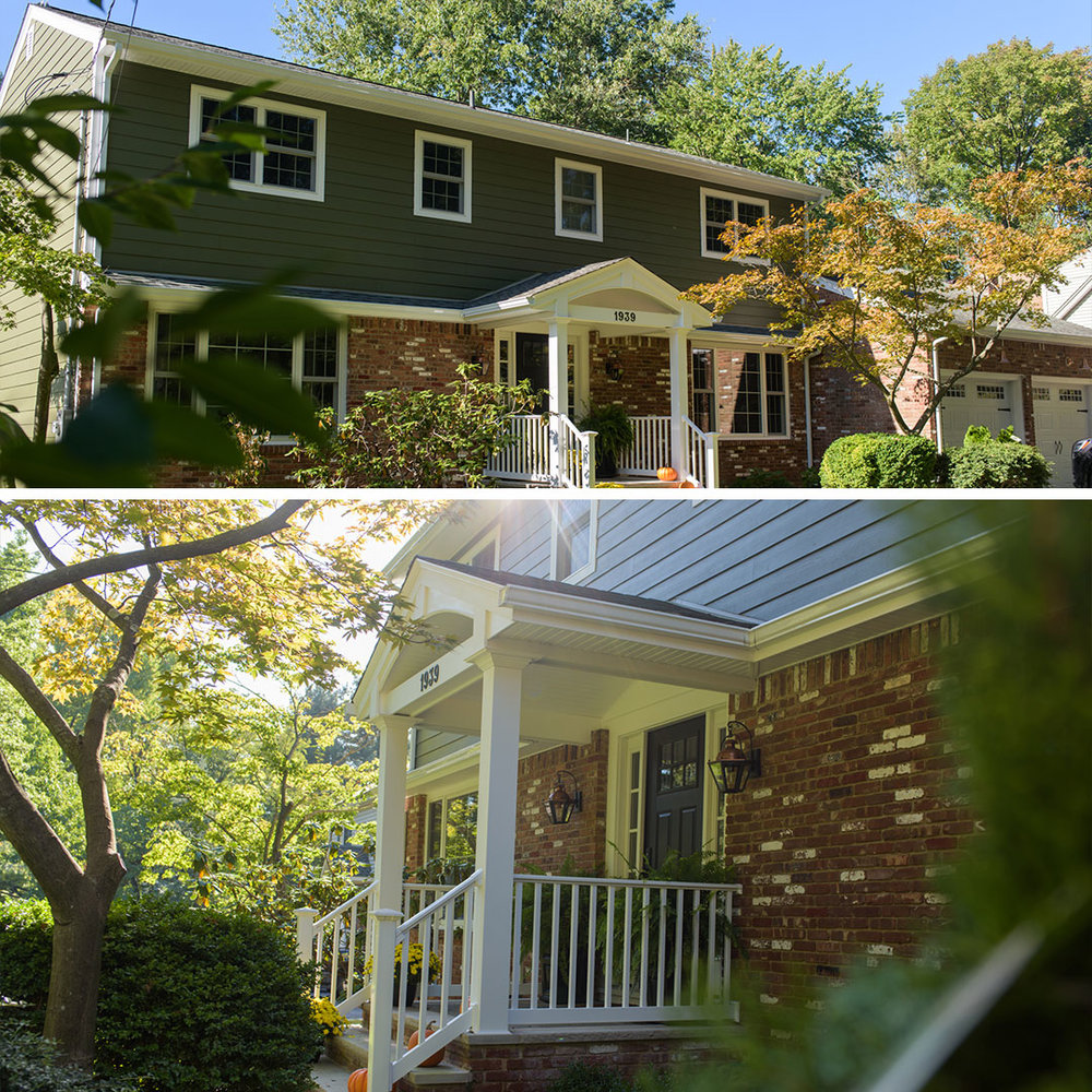 Siding, Widows & Portico Design in Scotch Plains, NJ.
