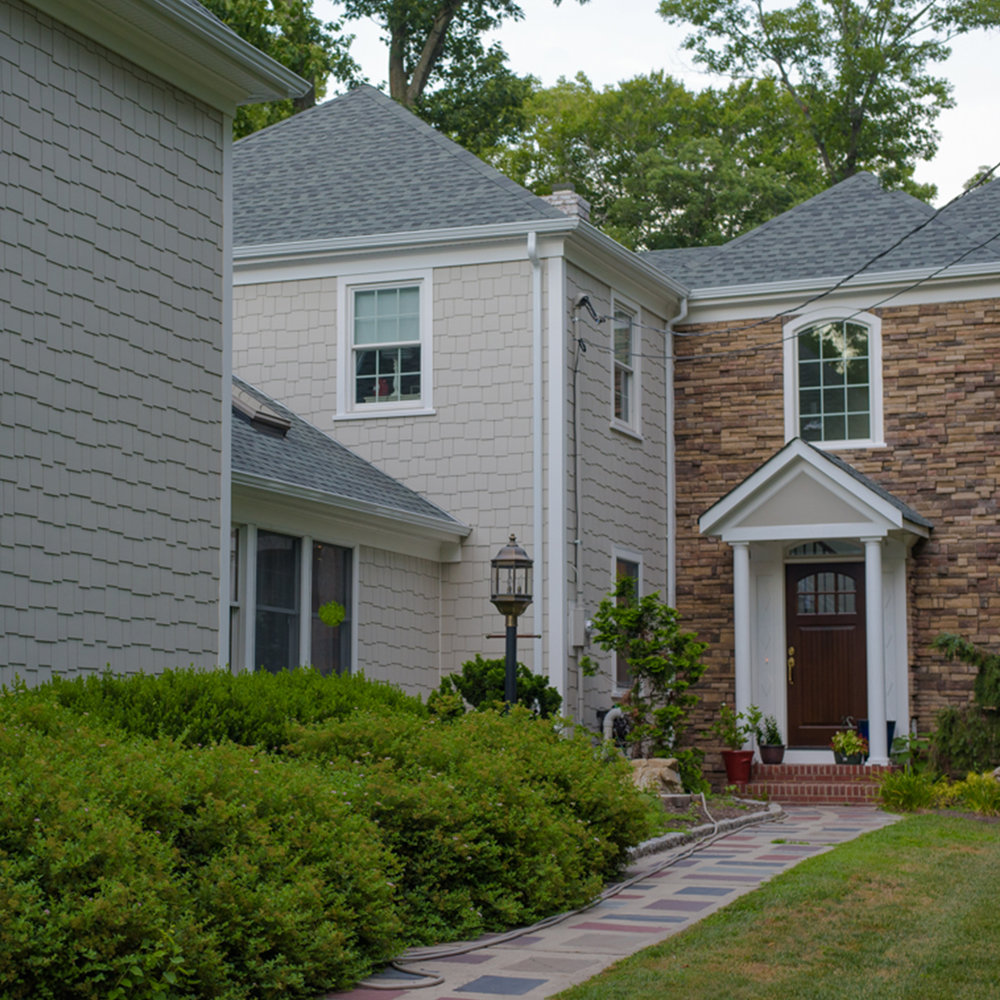 James Hardie Siding, stone design, gaf roofing and azek trim in Metuchen NJ Home remodeling
