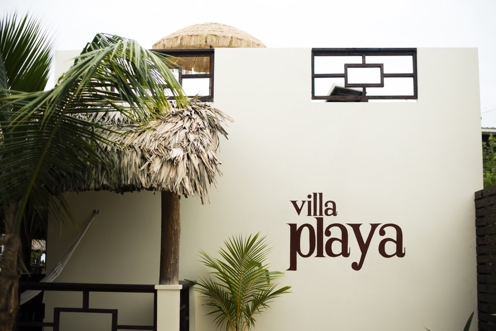 Villa Playa from our entrance