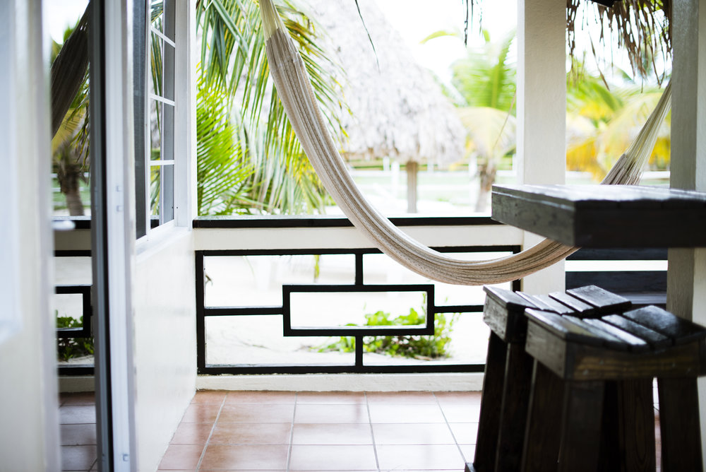 Enjoy an afternoon in your hammock facing the sea...