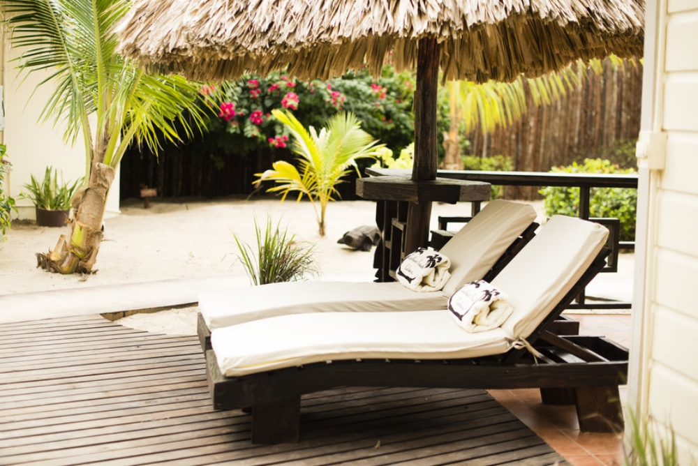 La Casita cushioned loungers...
