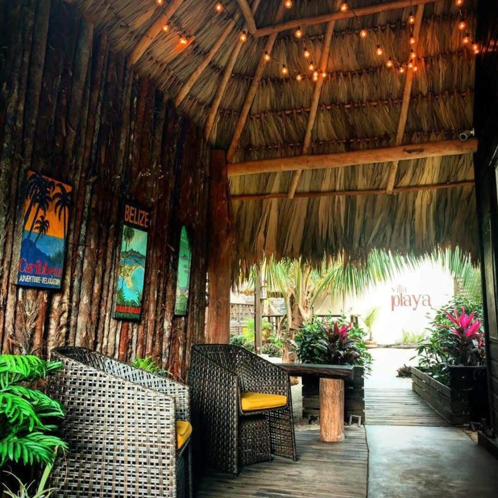 Warm, welcoming guest reception area, with complimentary rum punch and cold, essential oil-infused towels