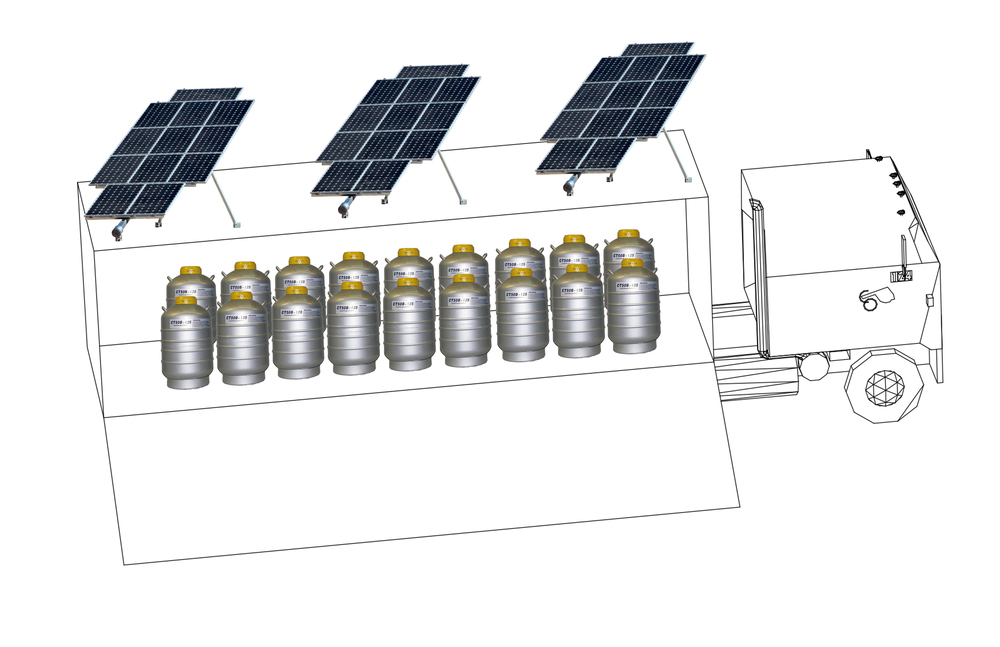 ...Some of them are used as photovoltaic power collectors with nitrogen batteries to store the energy accumulated...