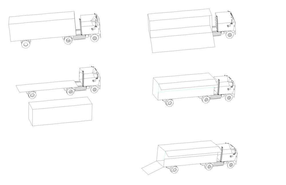 ...The trucks have removable and versatile trailers that can be used for a wide variety of purposes...