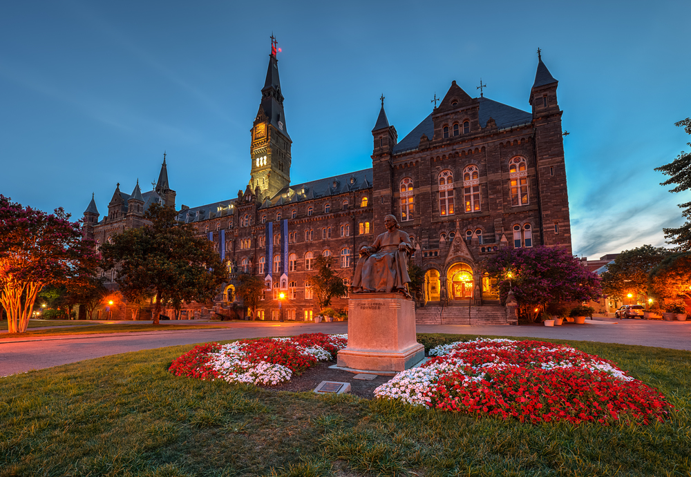 Georgetown University  by Flickr user  sillymonkeyphoto . Distributed under Creative Commons License.