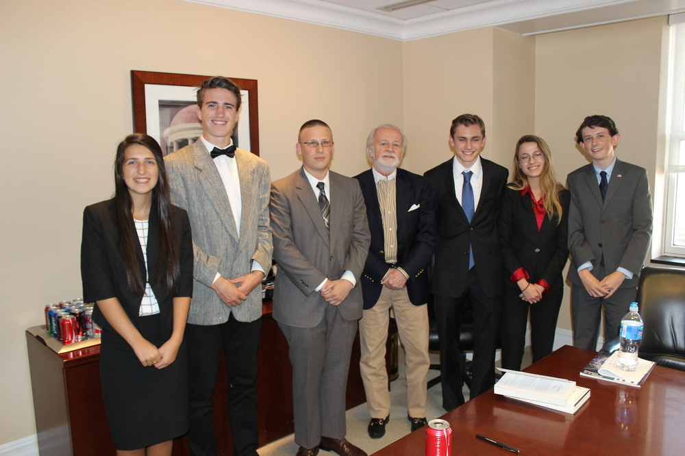 Group shot taken after a discussion with former CIA legal Counsel John Rizzo