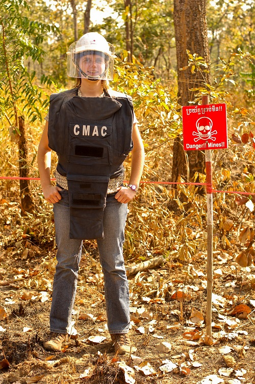 At a demining site in Battambang, Cambodia