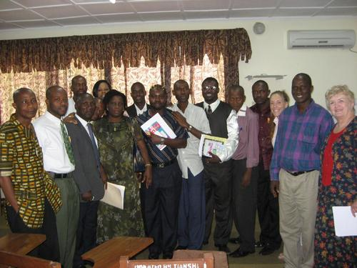 Posing with my Analytical Thinking skills class at the University of Liberia School of Law