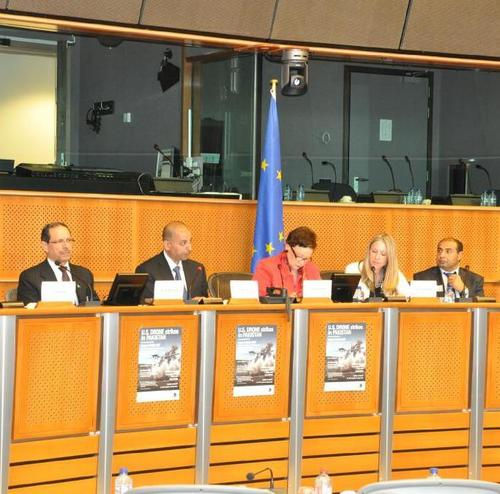 On a panel discussion convened in Brussels about the EU's policies towards drones