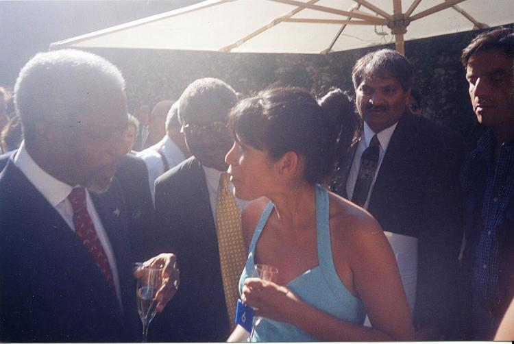 With Kofi Annan in Rome, 1998