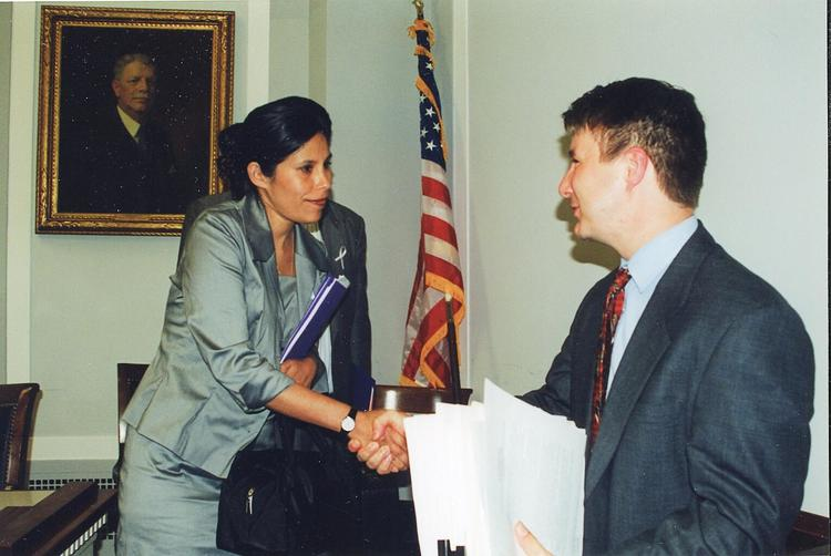 Washington D.C. US Congress, speaking at the Human Rights Caucus invited by the late Tom Lantos, Chairman of the United States House Committee on Foreign Affairs