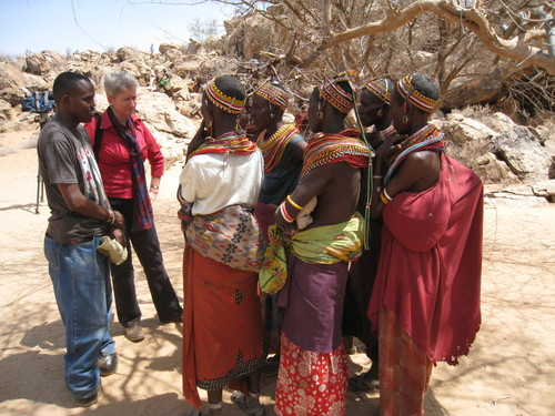 Interviewing Samburu women in Kenya