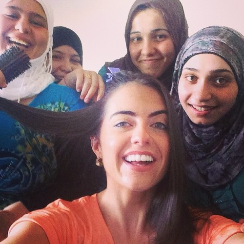 Selfie With Syrian Refugees