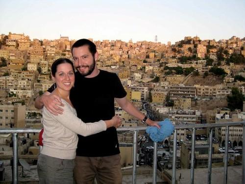 With husband Sam in Amman, Jordan (2011)