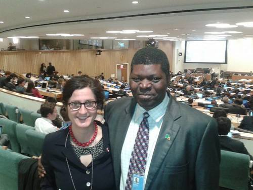 With Zambian ICAN campaigner Dr Robert Mtonga at the United Nations in New York