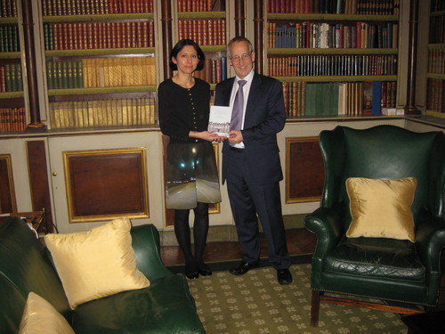Presentation of the Paris Embassy to British Ambassador to France, Sir Peter Ricketts