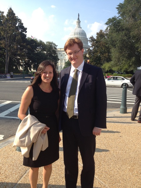 September 2013 in Washington, DC with former Chief Secretary to the Treasury Danny Alexander