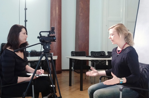 Media training at Central European University's School of Public Policy in Budapest