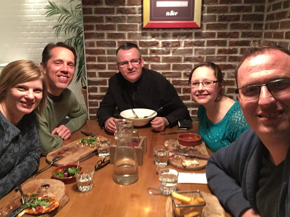 Dina, Blair, Sean Mullarkey, Me, and Blake...good food, good conversation!