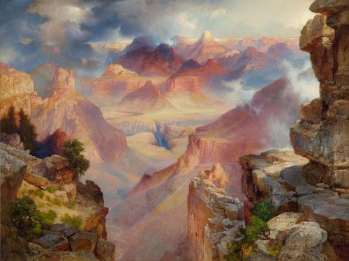 Grand Canyon of Arazona at Sunset by Thomas Moran