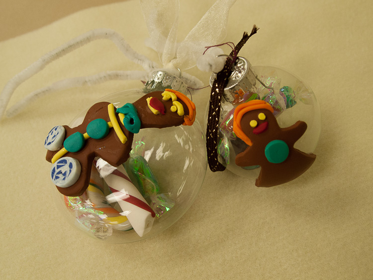 Glass Gingerbread Ornaments