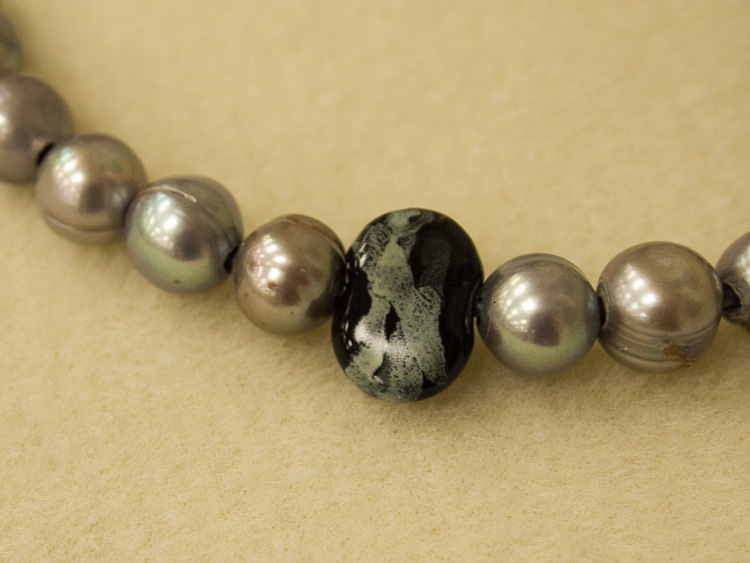 Kazuri Beads with Baroque Pearls