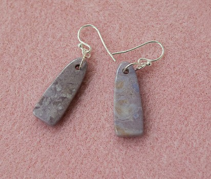 MJS121 Lavender Jade Earrings