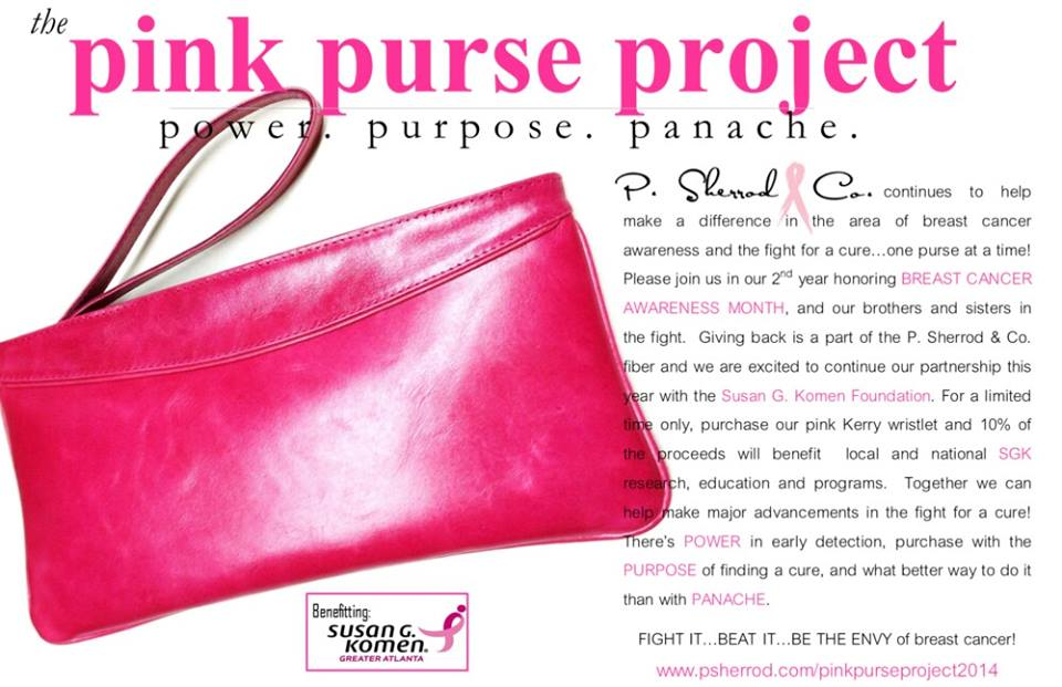 pink purse susan G. komen give back