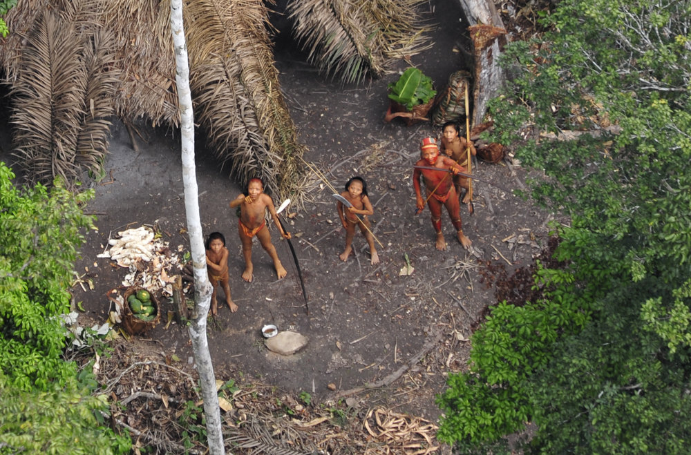 One of the world's last uncontacted tribes. © Gleison Miranda/FUNAI/www.uncontactedtribes.org