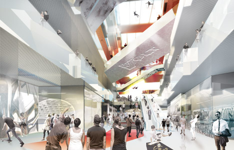 J Mayer H Designs Berlin Shopping Centre Offering Indoor Skydiving