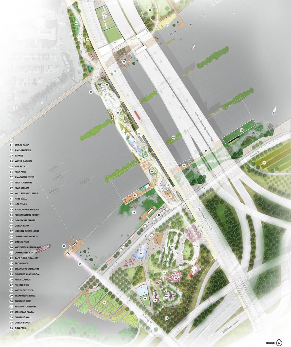 Designs Revealed For Th Street Bridge Park In Washington DC - Washington dc bridges map