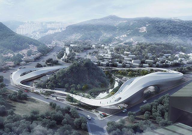 CAA's futuristic cloud-shaped proposal in Korea. Visit www.architectureforfuture.com