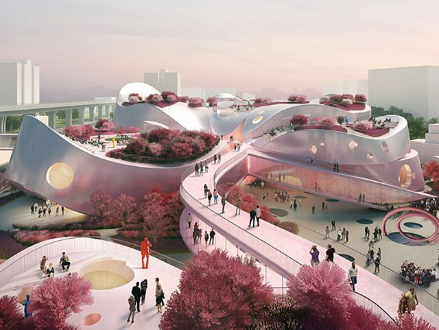 MVRDV presents pink-tinged proposal for Taoyuan Museum of Art in Taiwan. VISIT www.architectureforfuture.com