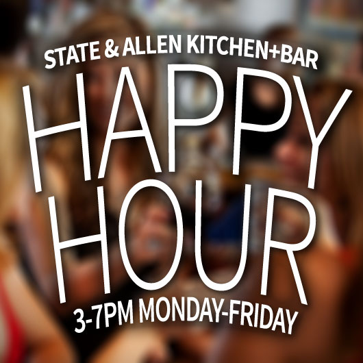 Join us for Happy Hour Home of the happiest hours in uptown every Monday-Friday from 3-7. Join us for our fun new patio, great friend, great food, and of course our famous drink specials.