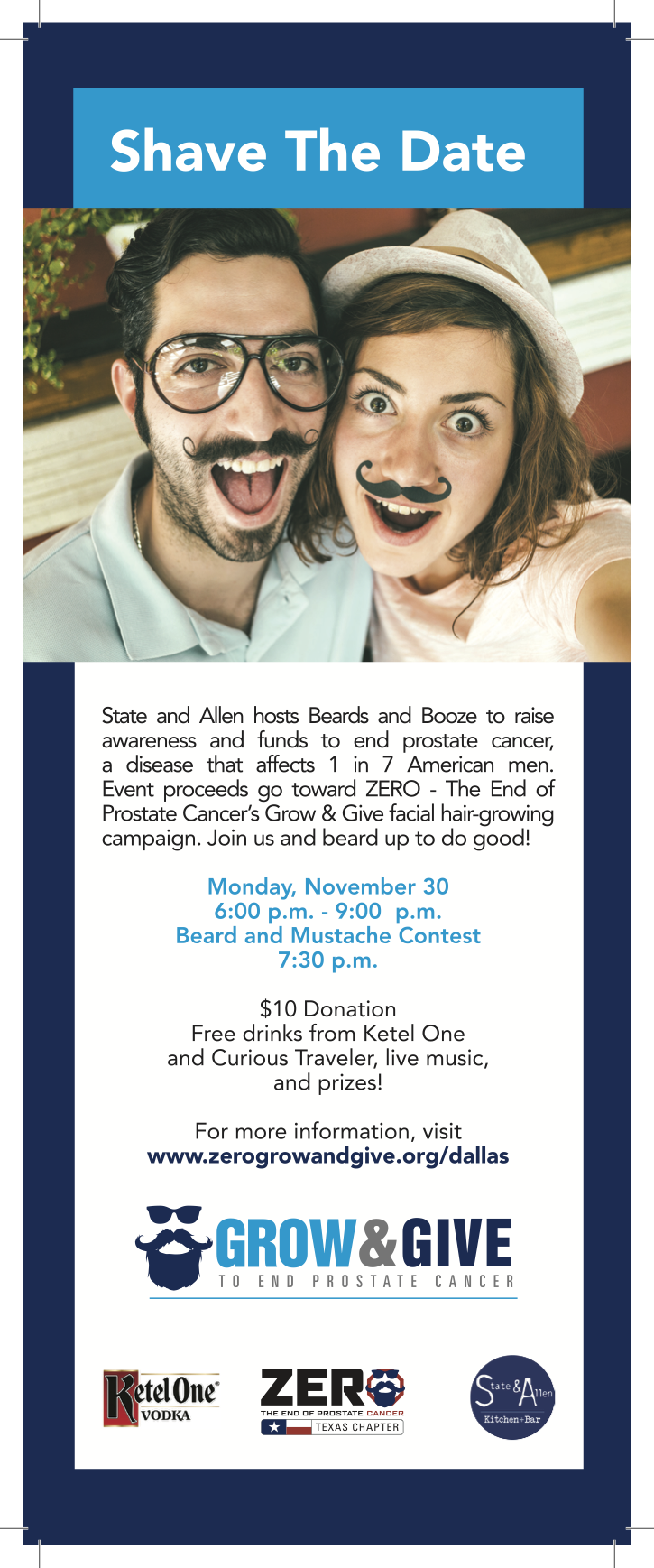 Shave the Date for Beards & Booze — State & Allen