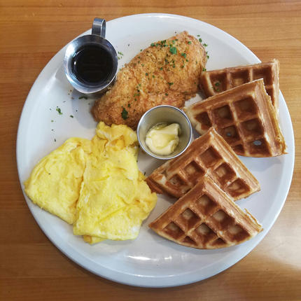 State & Allen's Delicious Chicken & Waffles is also on the Menu!