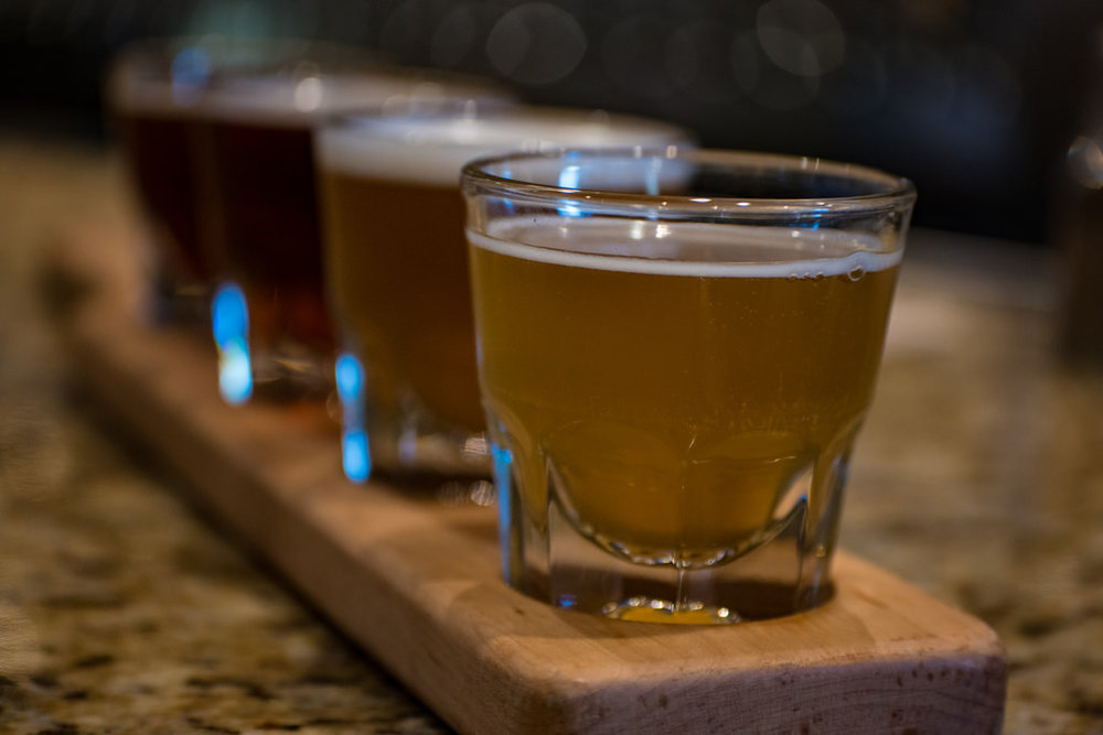 beer flight beer fest state and allen dallas texas.jpg