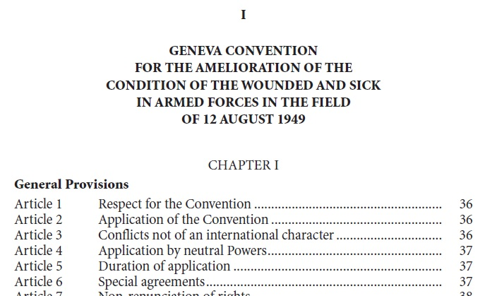 Geneva Conventions of 1949 and Additional Protocols