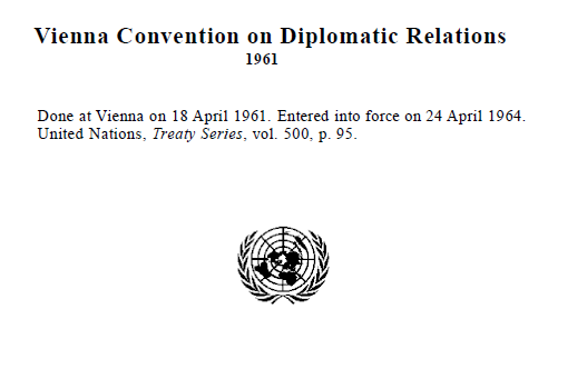 Vienna Convention on Diplomatic Relations