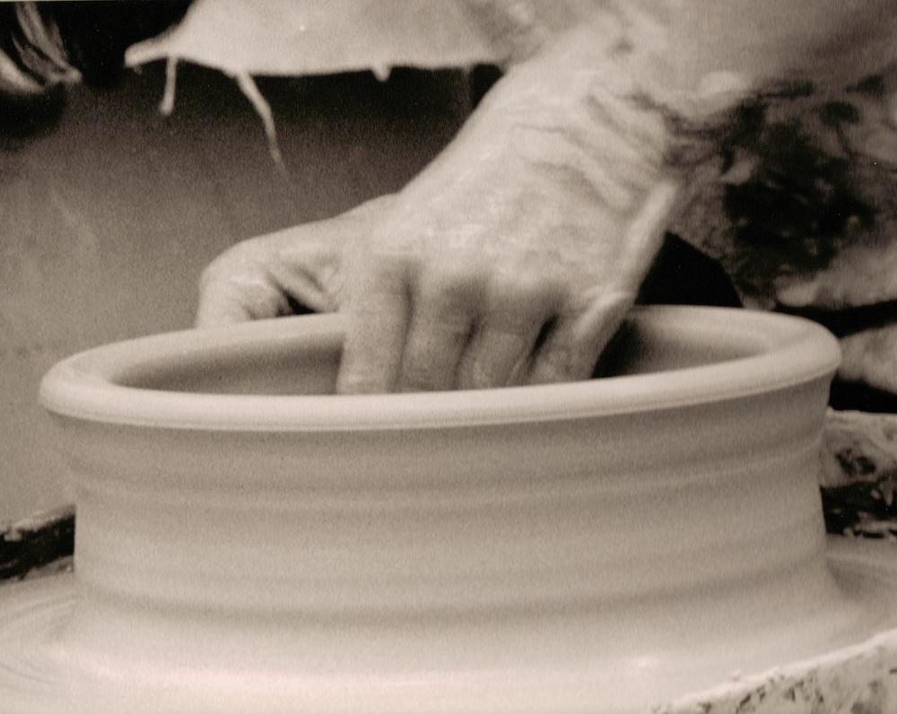 Joy throwing a casserole