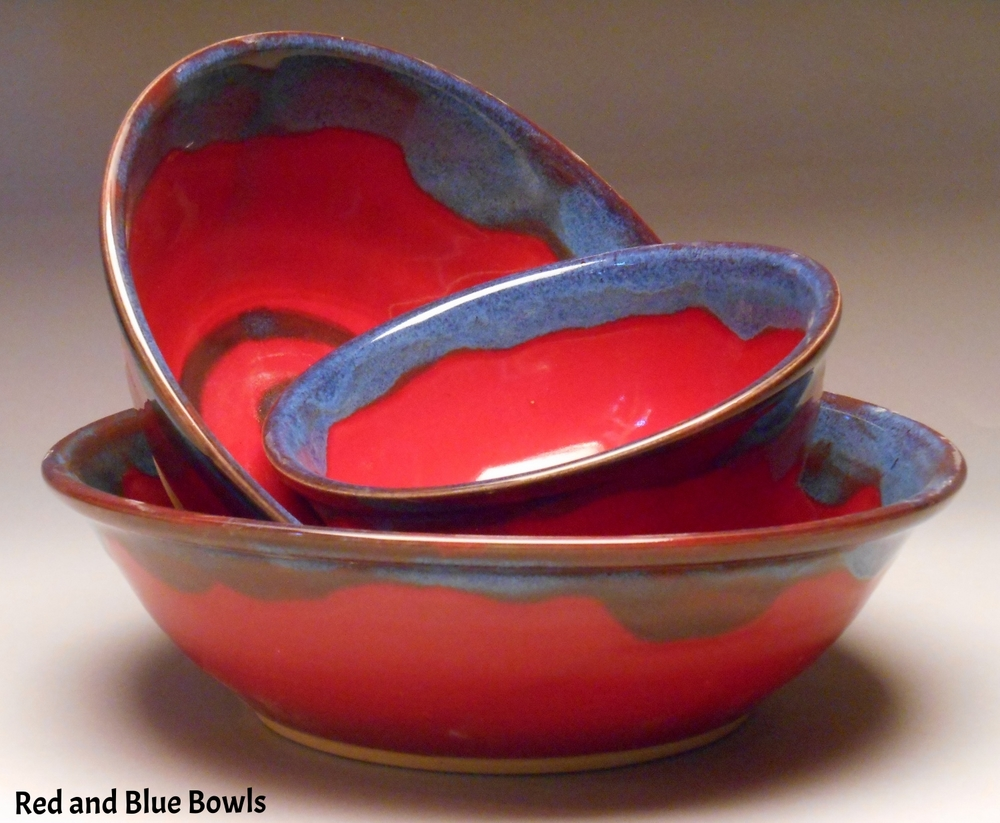 Red and Blue Nesting Bowls