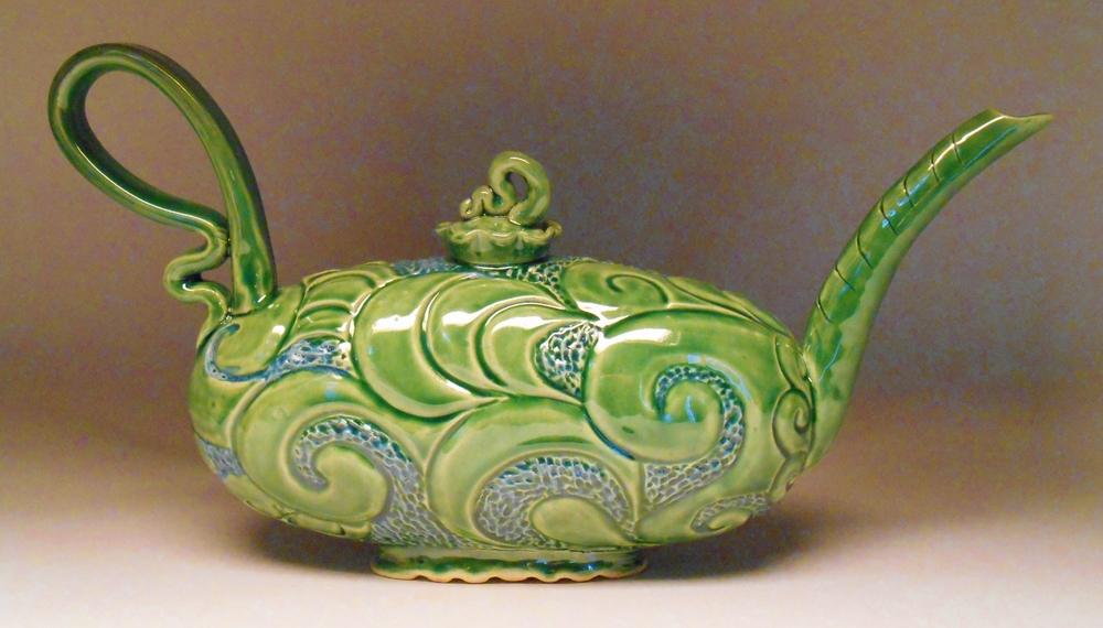 #124, Genie in a Tea Pot, 18x9.75