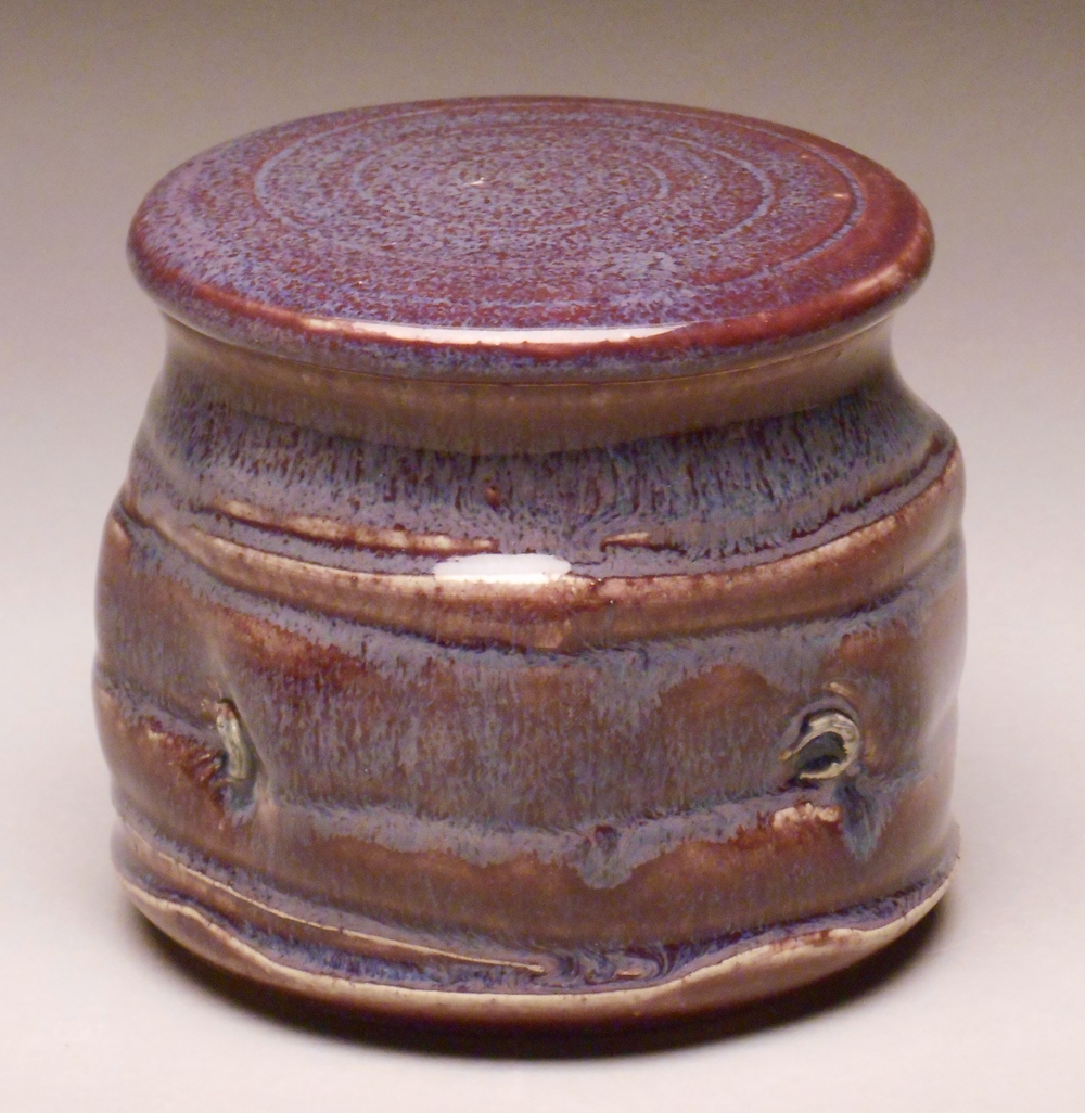 JP Plum French Butter Dish
