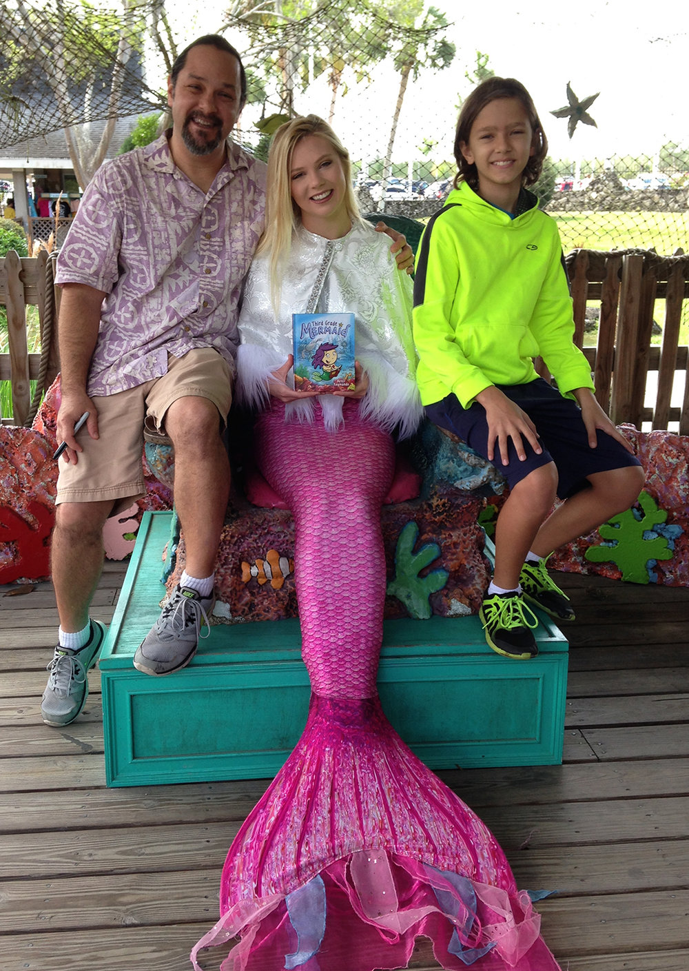 Me, Mermaid Brittany, and my son.