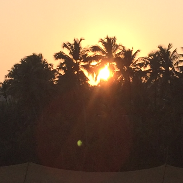 Indian Sunset near Mandrem Beach, Goa