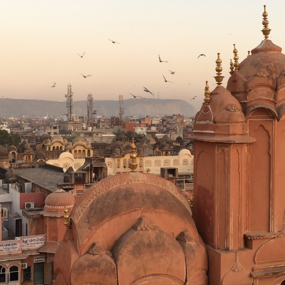 Sunset over Hama Majal, Jaipur, Rajastan